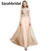 Giá rẻ Voan Đính Cườm Prom Dresses Halter Cổ Sexy Mở Lại Crystals Tầng Length Wedding Party Gowns SD132