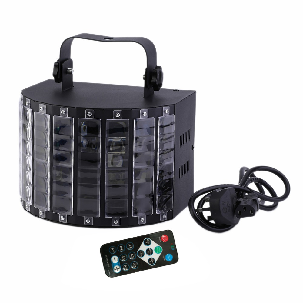 цена на Professional Stage Light Sound Active LED Light Laser RGBW Stage Effect Light for Club Disco DJ Party Bar With Remote Controller
