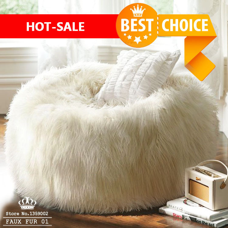 Free Shipping 120cm Diameter Sofa Set Living Room Furniture Bean Bag Faux  Fur Adult Long Faux Fur Lounge Chair Corner Sofa Bed In Living Room Sofas  From ...