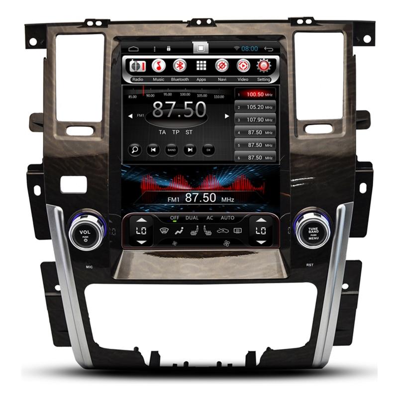 12.1 Vertical Screen Tesla Android 6.0 Car Radio Audio DVD GPS Navigation Central Multimedia for Nissan Patrol 2012 2013 2014