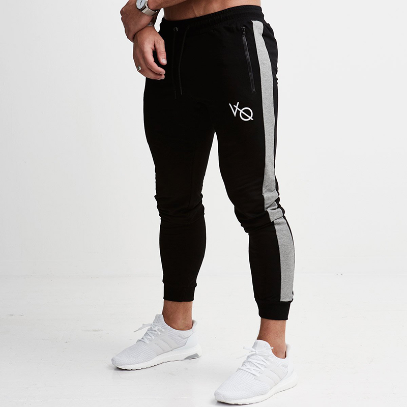 Jogging Pants Men Striped Gym Sweatpants Sport Pants Men Fitness Trousers Running Joggers Pants Sportswear Trackpants Leggings striped tape applique velvet pants