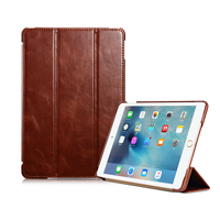 For IPad Mini 4 Business Case Cover Genuine Leather Ultrathin Folding Waterproof Stand Cover Case For