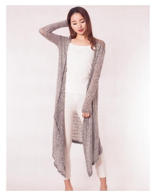 Женская длинный халат серый цвет с длинным рукавом вязание домашняя одежда халаты женский кардиган главная одежда для женщин тонкий халат
