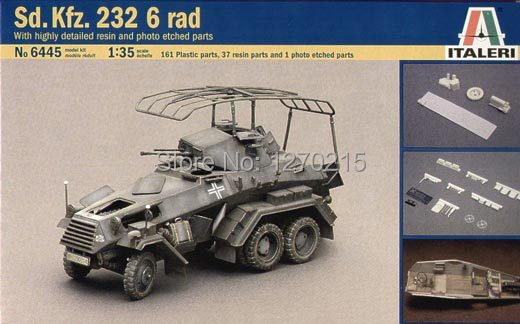 Italeri WWII German Sd.Kfz.232 6 Rad Armored Car W/ photo-etch + Resin kit 1/35