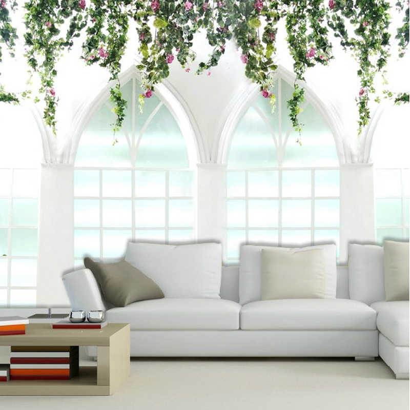Aliexpress Buy Free Shipping Large Mural Wedding Photography Background Wallpaper Living Room Sofa Bedroom Door Of Happiness Ivy Custom Size From
