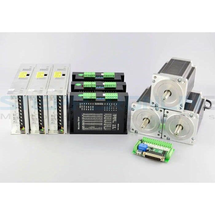 3 assi CNC Kit 13Nm (1841oz. in) Nema 34 Stepper Motor & MA860H Driver di CNC Plasma Laser Tornio3 assi CNC Kit 13Nm (1841oz. in) Nema 34 Stepper Motor & MA860H Driver di CNC Plasma Laser Tornio