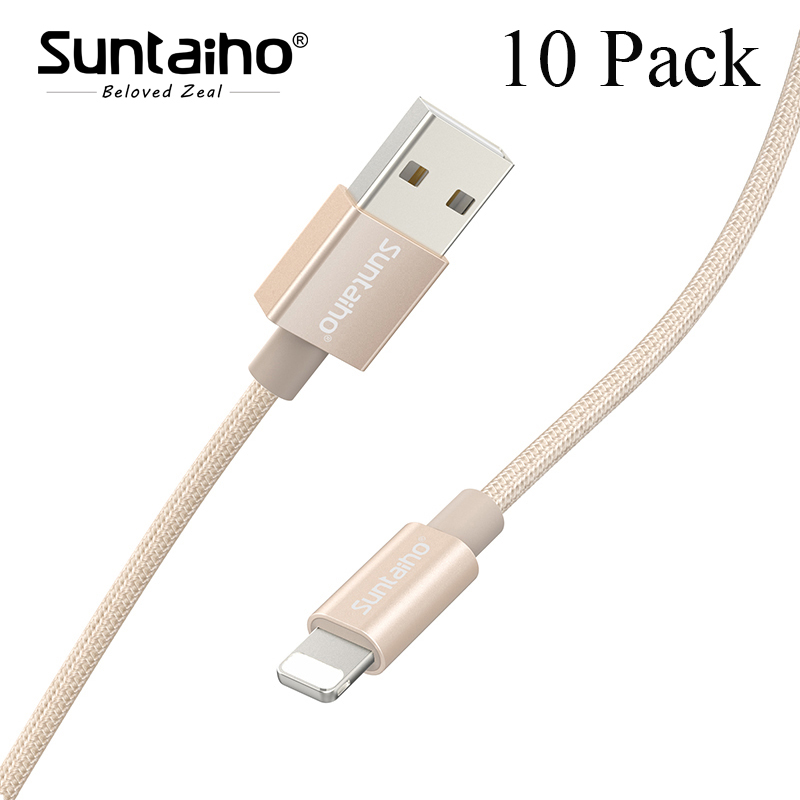 Suntaiho 10-Pack usb cable for iphone cable fast charging for iPhone 7 plus 8 plus 5 5s 6 6s X iPad SE Phone USB Charger Cable
