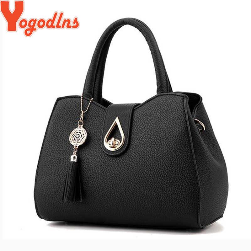 Yogodlns duża pojemność skórzana torba dla kobiet proste podkreślające temperament torebka torby na ramie z frędzlami torby na ramię