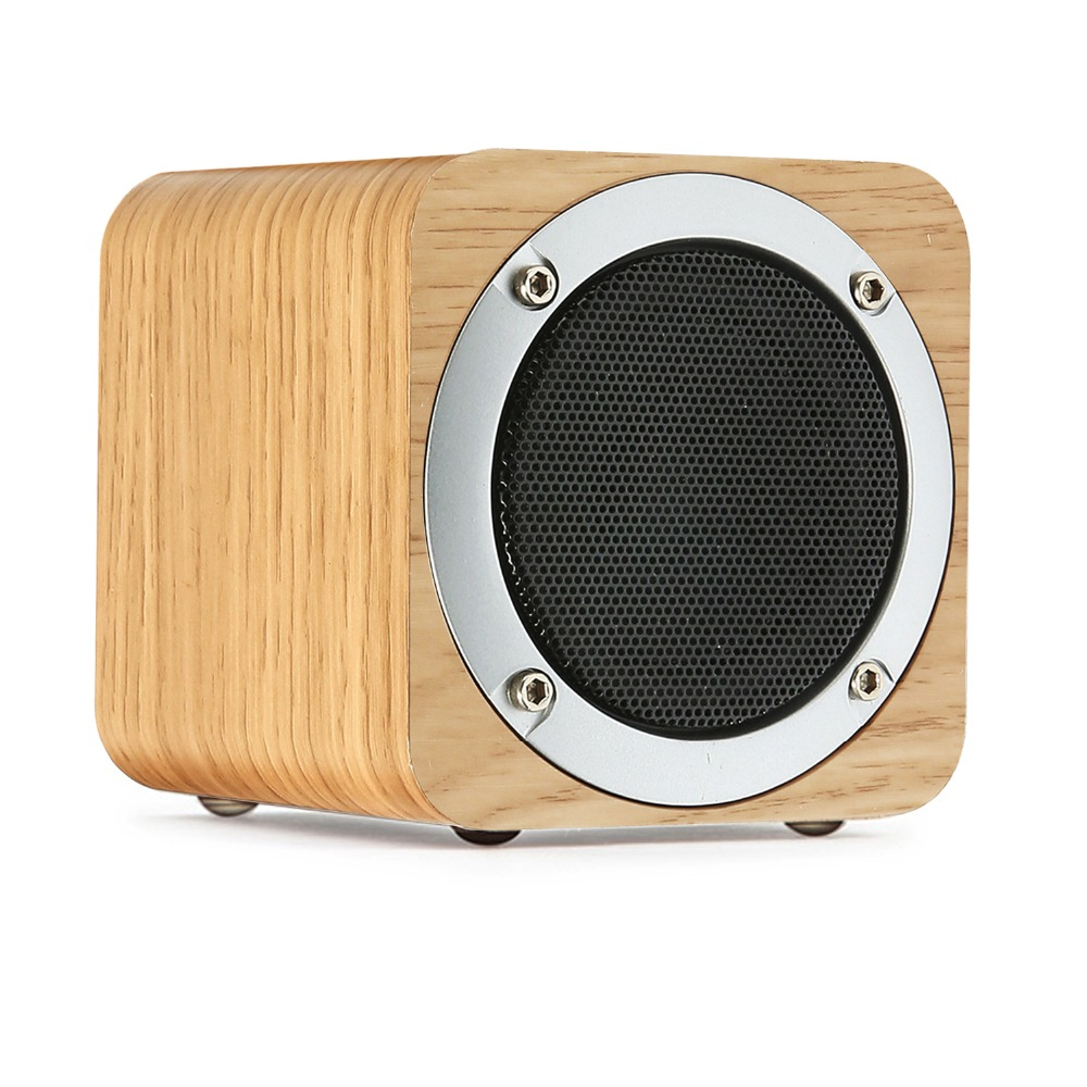 Wireless Bluetooth Speaker Wooden, 6W Portable Bluetooth Speaker with Hi-Fi Stereo TF Card FM Radio for Smartphone Xiaomi iPhone tronsmart element t6 mini bluetooth speaker portable wireless speaker with 360 degree stereo sound for ios android xiaomi player