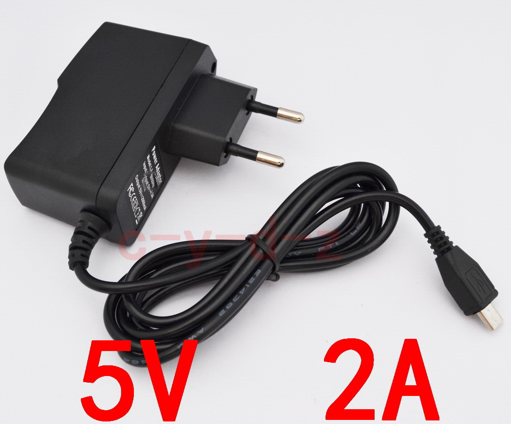 50PCS High quality 5V 2A V8 EU plug Micro USB Charger Charging Adapter Power Supply 2000mA