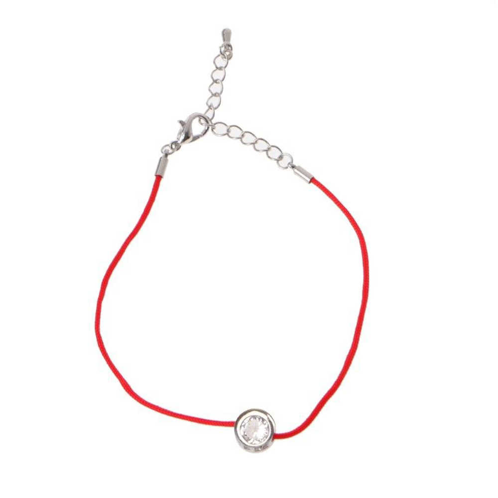 Fashion Lucky Red Cord Thread String Rope Chain with CZ Zirconia Bracelets For Women Handmade Crystal Jewelry Lovers