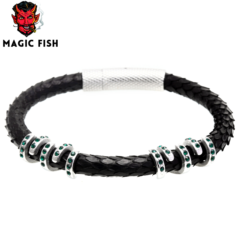 Magic Fish 10mm Charms Beads For Diy Jewelry Making Women Man Bracelets Round Brass Cubic Zirconia Drop Shipping Jewelry Bead Jewelry & Accessories