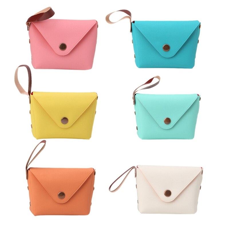 Candy Color Women Coin Purse Wristlet Lady Wallet Girls Change Pocket Keys Case