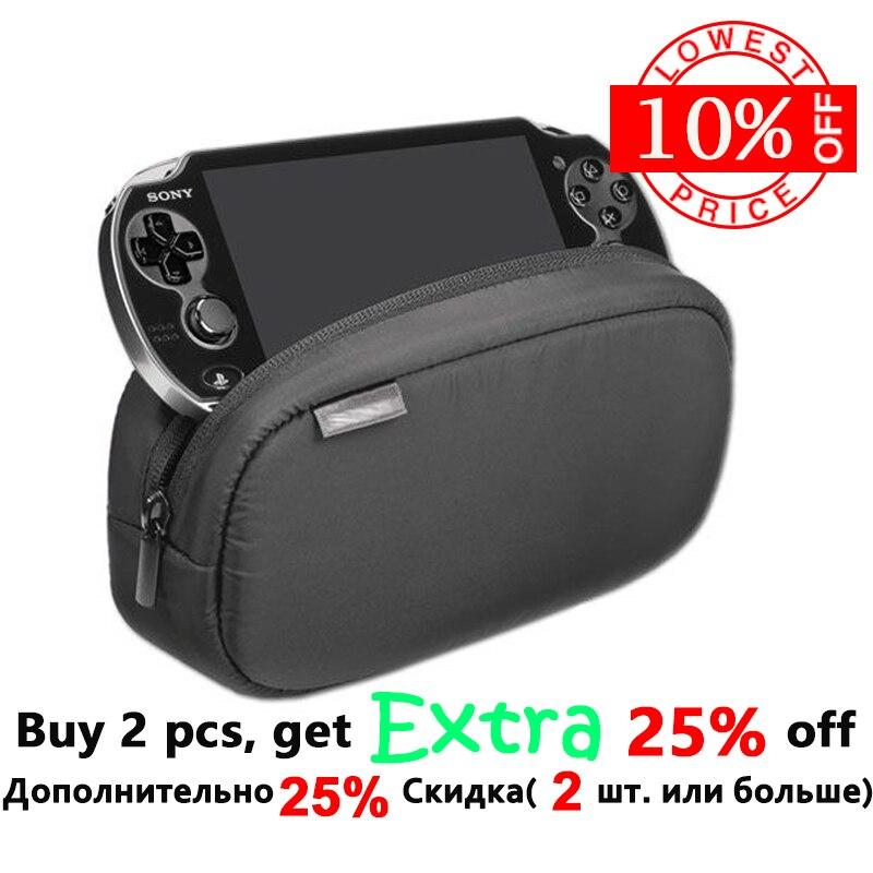 1 piezas nuevo negro de gran capacidad de viaje protectora funda bolsa para Playstation PS VITA 1000 de 2000