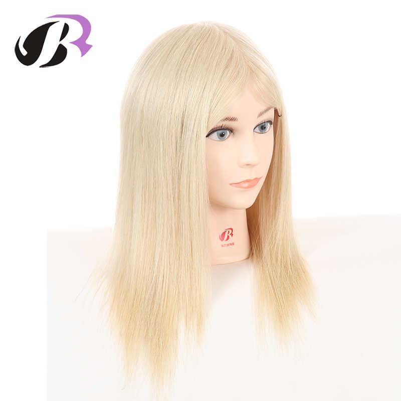 """رائجة البيع أنثى 14 """"المعرضة التدريب رئيس 100% شعر بشري حقيقي القزم لقصات الشعر التجميل شعر مستعار الدمى مع المشبك الحرة"""