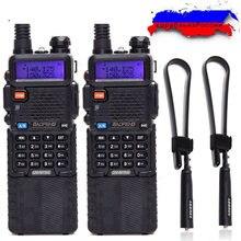 2 個baofeng UV 5R 8 ワットハイパワー 10 キロ範囲uhf/vhfトランシーバー 3800 バッテリーアップグレード 8 ワットのUV5R hfトランシーバ