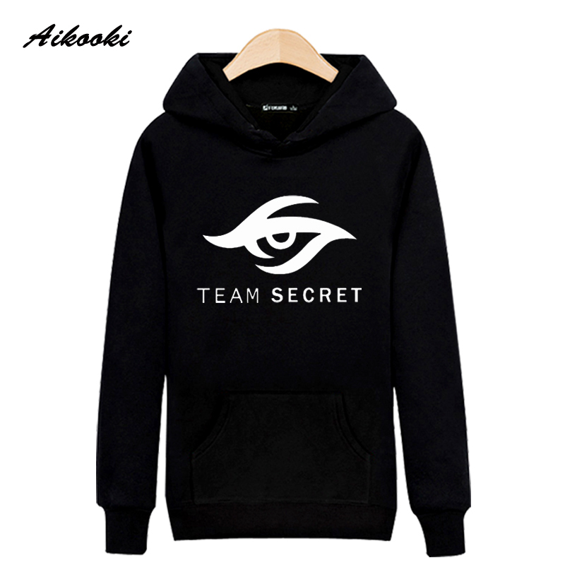 Dota 2 TEAM SECRET Cotton harajuku Hoodies And sweatshirt High Quality black Gray Skateboards Baseball Sportwear and game Hooded