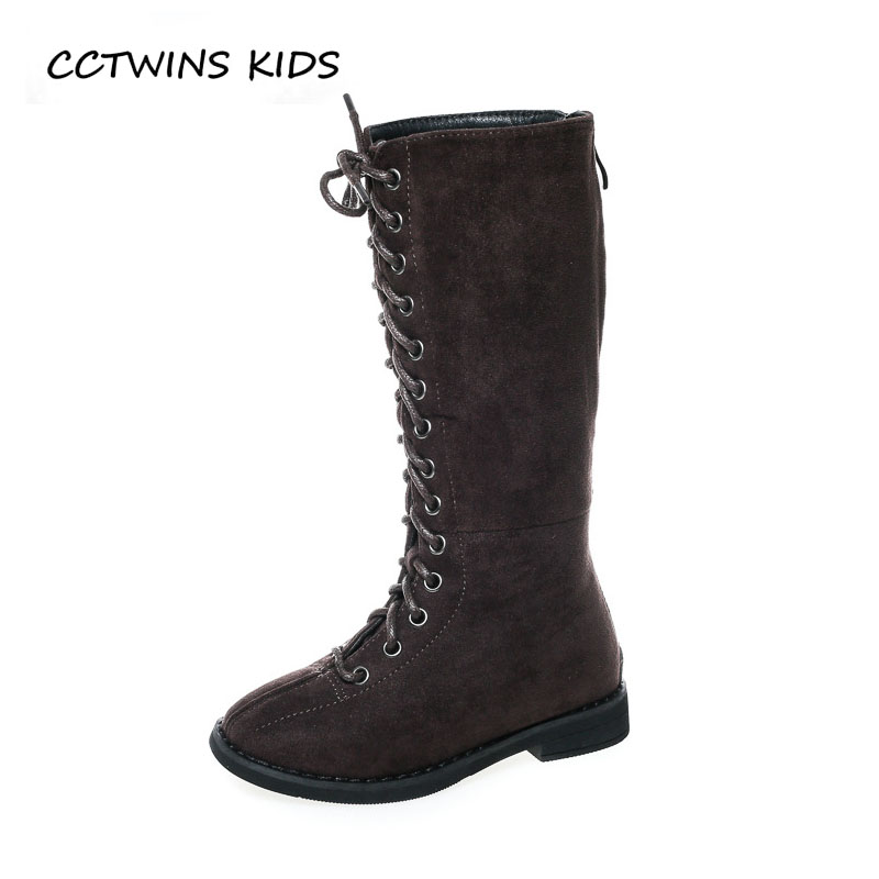 CCTWINS KIDS 2018 Autumn Baby Girl Fashion Suede Boot Children Pu Leather Shoe Toddler Brand Knee High Boot Black H012 cctwins kids 2018 winter children brand black knee high boot baby pu leather flat girl fashion warm shoe toddler h057