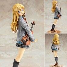 Figura de ação quente sua mentira em abril kaori miyazono boneca dos desenhos animados pvc 20cm caixa embalado bonito japonês estatueta mundo anime wx150