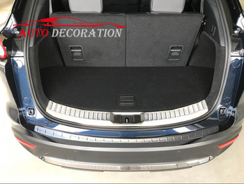 Untuk Mazda CX-9 CX9 2016 2017 2018 Mobil styling Stainless Batin & Outer Plat Bumper Belakang Protector Sampul Potong Exterior 2 pcs