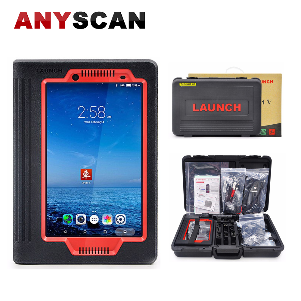 Original Launch X431 V 8'' Tablet Wifi/Bluetooth Car Diagnostic Tool Wireless OBD2 Full System Pad Scanner 2 Years Free Update original launch x431 easydiag2 0 diagnostic tool easydiag 2 0 for android ios bluetooth obdii scanner update online free ship