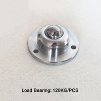 4PCS Heavy duty universal ball cattle eyes ball bearings universal ball cattle round ball wheel Load bearing 120KG JF1340