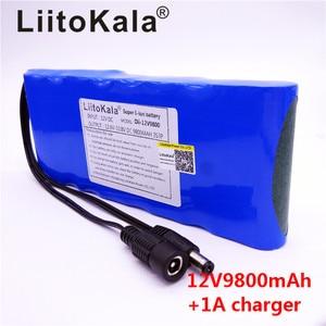 Image 3 - HK LiitoKala 12V 9800mAh 18650 DC 12V 12.6V Super Rechargeable Pack EU/US plug adaptor for CCTV camera video Battery Portable