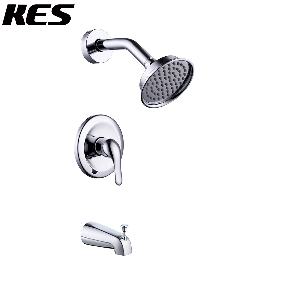 KES Pressure Balance Shower Valve Combo Complete Kit Bath and Shower Faucet Set Brass Antiscald Valve with Diverter,XB6221/-2/-7 electric pressure cooker pressure cooker pressure limiting valve safety valve pressure valve 80kpa