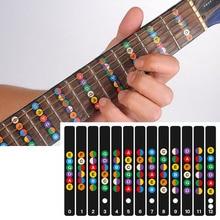 Étiquettes autocollantes pour guitare, Notes et cartes, décalcomanies acoustiques pour 6 cordes
