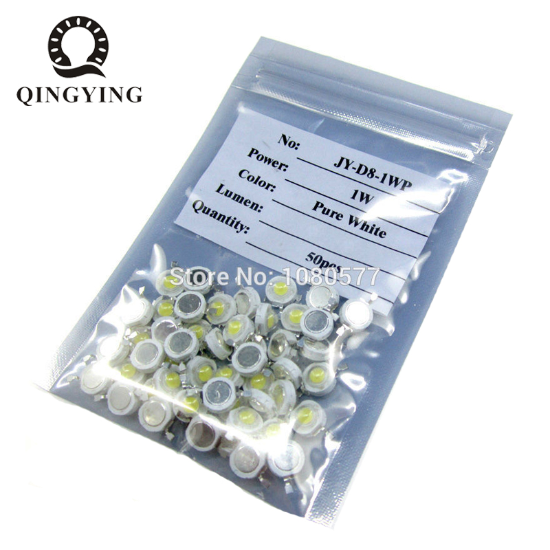 50pcs 1W 3W High Power LED Light-Emitting Diode LEDs Chip SMD Warm White Red Green Blue Yellow For SpotLight Downlight Lamp Bulb
