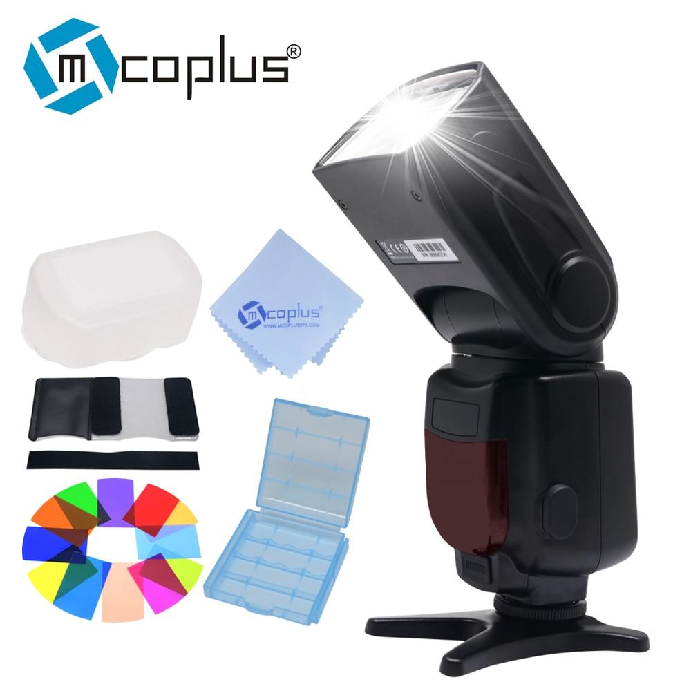 Mcoplus TR-950 LCD Blitz Universalhalterung Speedlite für Canon Nikon Pentax Olympus DSLR Kamera D7100 D3100 D90 D5300 D3200 600D