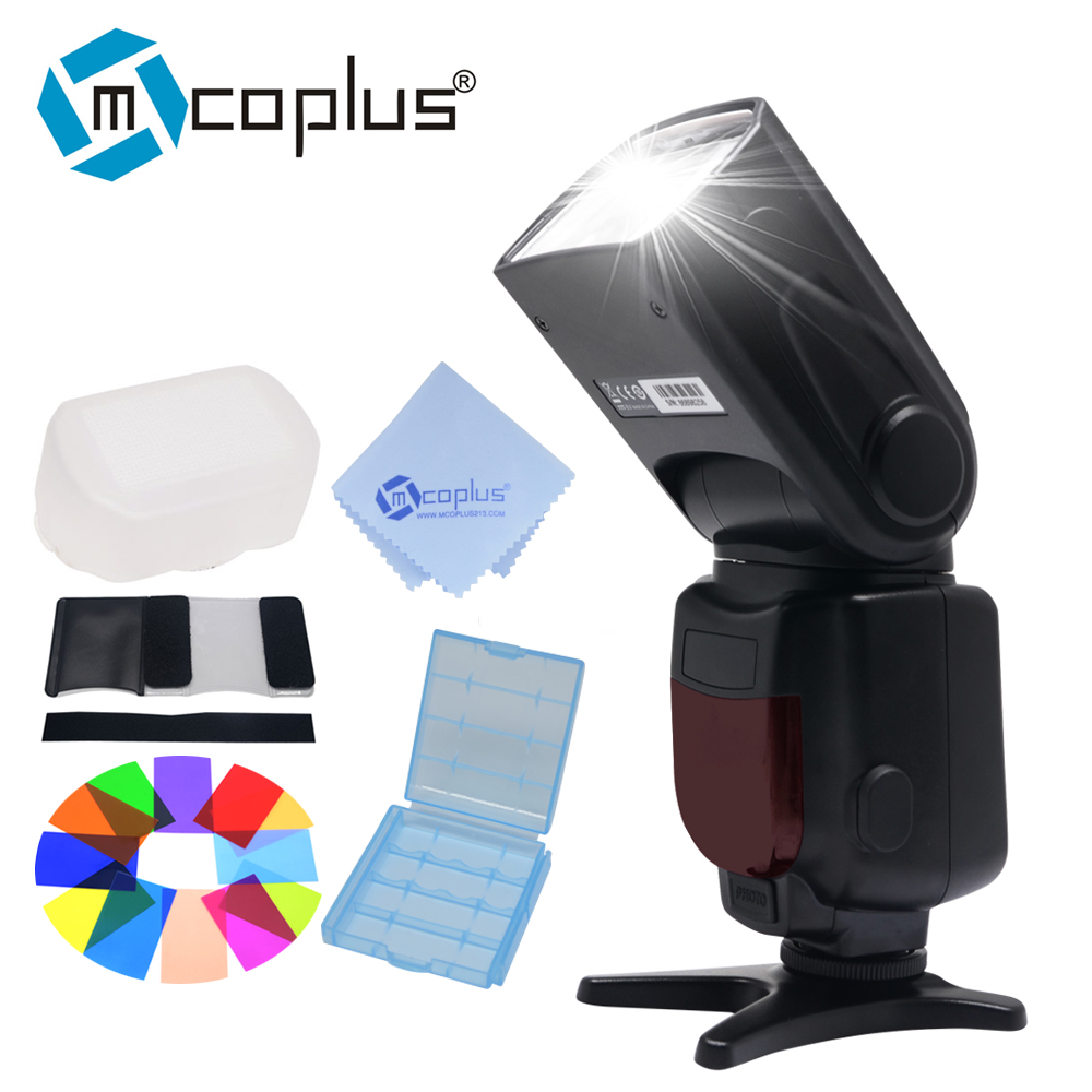 Mcoplus TR 950 LCD Flash Universal Mount Speedlite for Canon Nikon Pentax Olympus DSLR Camera D7100