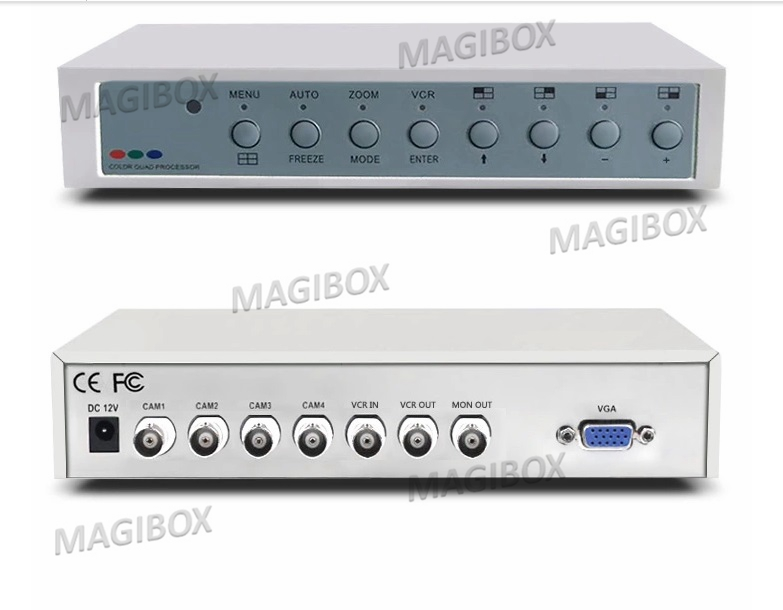 4 image Splitter VGA Output , Video monitor Splitter 4in 1out + remote control wavelets in image communication 5