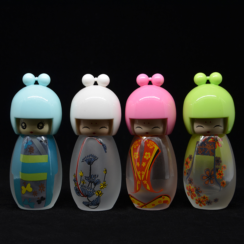 (5 pieces/lot) 20ML Capacity free shipping factory wholesale edition doll doll perfume bottle glass bottle spray bottle packing