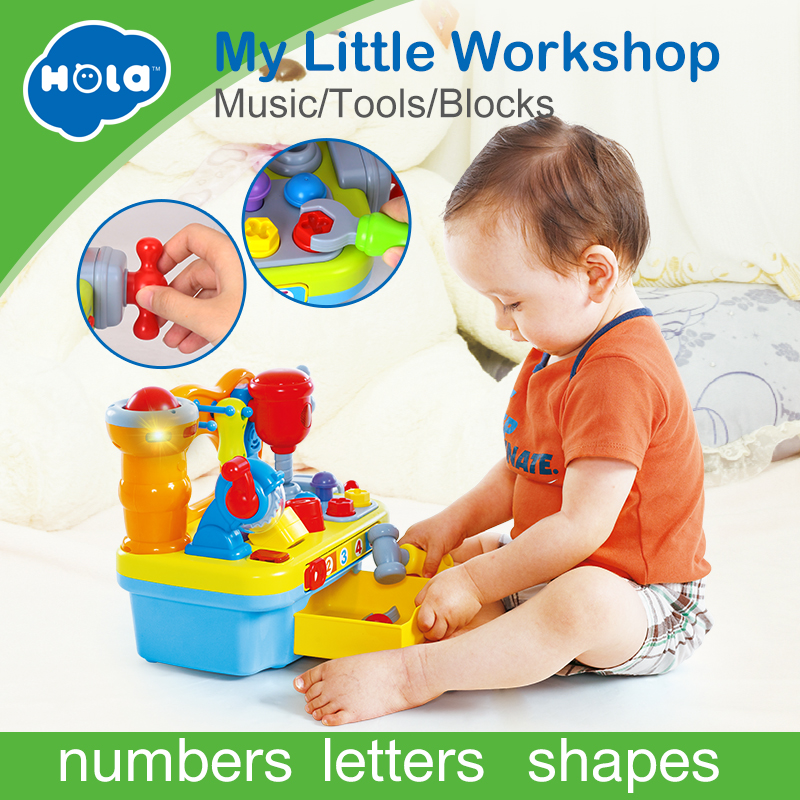 HOLA 907 Baby Toys Workshop Brinquedos Bebe Juguettes Infant Sounding Tools Kids Early Learning Games Toy Xmas Gifts