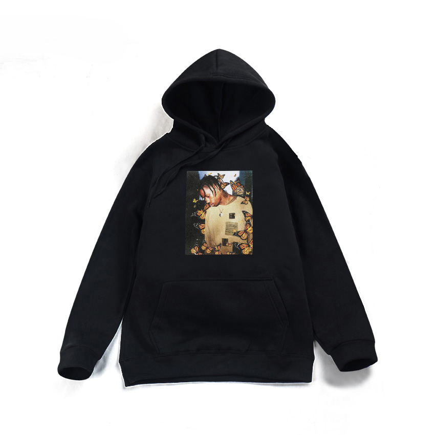 842ecc840a38 2018 Travis Scott Butterfly hoodie Effect Rap Music Album Cover men and  women Hip hop Astroworld Sweater hoodie top s 2xl -in Hoodies & Sweatshirts  from ...