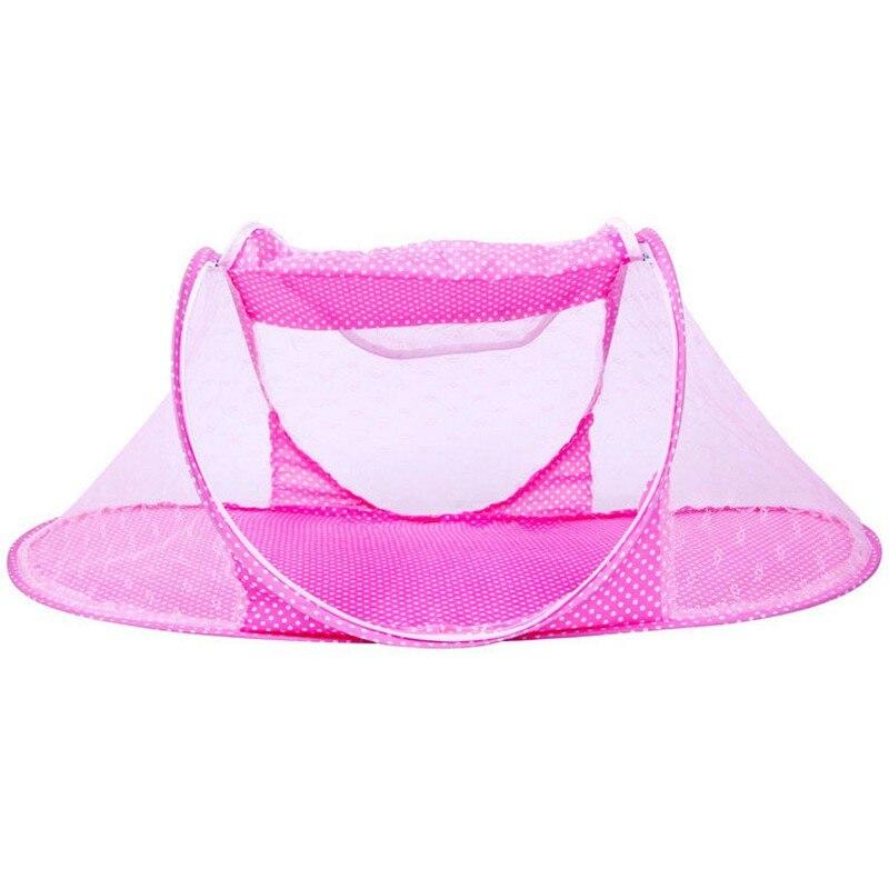 MOTOHOOD 110*60*38CM Baby Bedding Crib Netting Folding Baby Mosquito Nets Bed Mattress Pillow Summer Foldable Netting