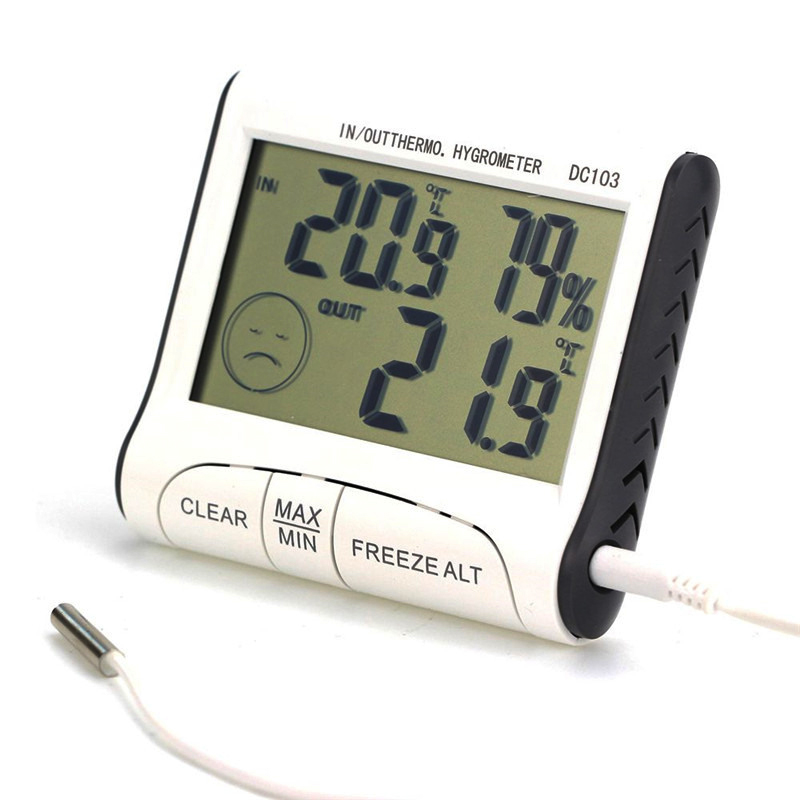 Weather Station Household Indoor and Outdoor Use Temperature Humidity Meter Temperature Display Thermometer Hygrometer C/F