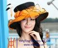Бесплатная Доставка Новое Прибытие Элегантных Женщин Hat Органзы Hat Свадьба Платье 2 Tone Цветок Широкими Полями Летнее Платье Модные Аксессуары