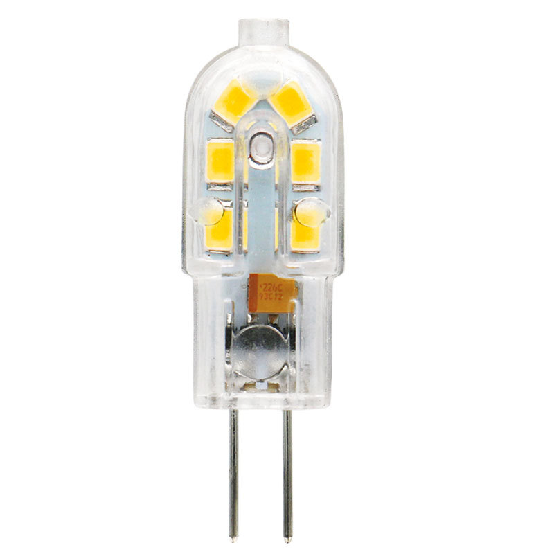 AIMIHUO 5pcs G4 LED light Bulb for chandeliers 1W AC/DC 12V AC 220V warm white/ white 360 Beam Angle Replace Halogen Lamp