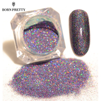 1 Box 1.5g BORN PRETTY Starry Nail Power 9 Colors Holographic Laser Nail Glitters Dust Manicure Nail Art Glitter Decorations