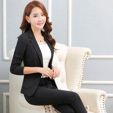 17a9078ab6d Casual Slim Woman Blazer Elegant Office Jackets Women Black Blazer Korean  Fashion Traje Mujer Plus Size Jacket Cardigan KC5C072