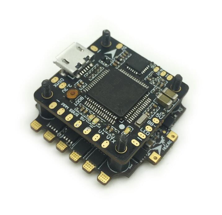 цена на HGLRC Mini Micro F4 Tower Flight Controller XJB F428 DSHOT Flytower OSD BEC Flight Control & 28A Blheli_S 2-4S 4 In 1 ESC
