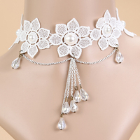 Simulated-pearl Cheap White Lace Necklace Wedding Gifts For Bridesmaid & Bride Sales Necklace Best Selling 2017 Jewelry Products
