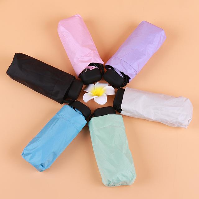Mini Pocket umbrella sun protection Fashion Folding Rain parasol Female Gift Girls Anti-UV Waterproof Portable Travel Umbrella