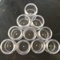 4X Empty Nail Cases Nail Art Glitter Dust Powder Empty Boxes Whole Sale Clear Pots Bottles