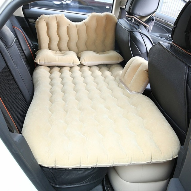 Car Air Mattress Travel Bed Inflatable Mattress Air Bed Inflatable Car Bed Car Back Seat Cover Inflatable Sofa Cushion