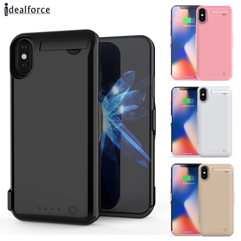 10000mAh / 5000mAh External Power Bank pack Charger Backup <font><b>Battery</b></font> Charger <font><b>Protection</b></font> Case for iPhone X 7 8 Plus Cover cases