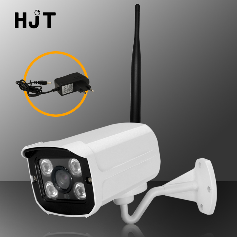 HJT Wifi IP Camera Wireless 1080P 2.0MP 720P CCTV HD 4IR Night Vision Security Monitor Outdoor H.264 Onvif With Power s6205y h 264 hi3518e 1 4 cmos wireless 1megapixel hd 1280 720 smart wifi ip camera night vision support remote monitor