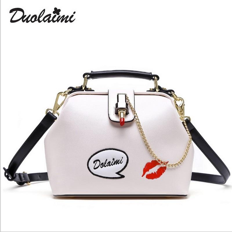 Duolaimi Brand Summer Young Women Messenger Bags Embroidery Design Female Handbags Lady Shoulder Clutch bolsos sac a main